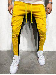 Pantalon de Jogging Rayé en Blocs de Couleurs -