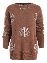 Snowflake Pullover Christmas Sweater -
