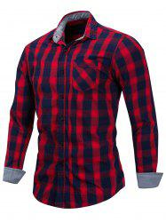 Casual Checked Print Button Up Shirt -