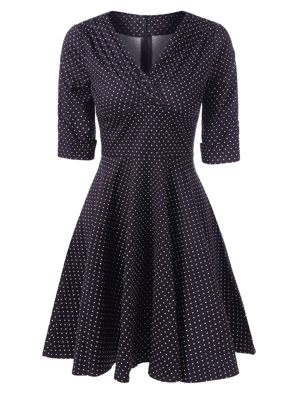 Best Vintage Dotted Pin Up Dress