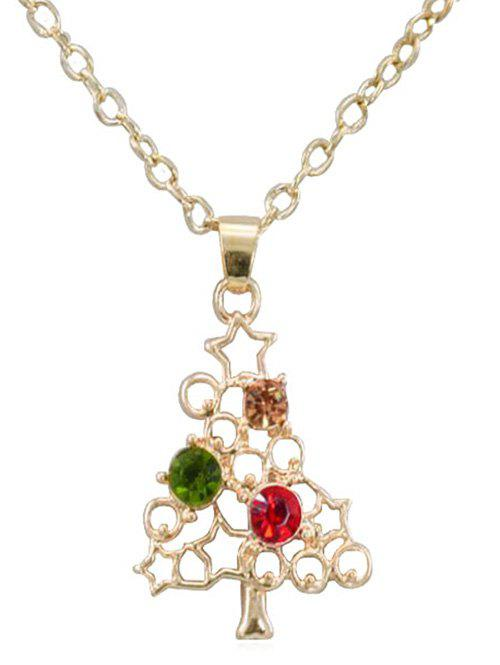 Hot Vintage Rhinestone Hollow Out Christmas Necklace