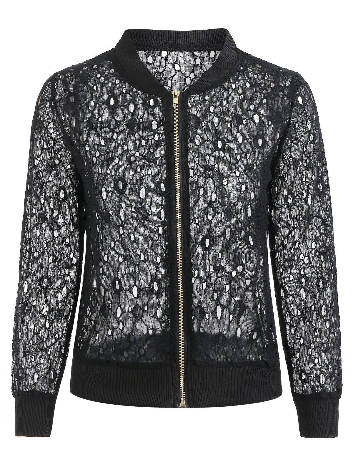 Buy Zip Up Lace Jacket
