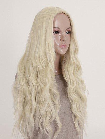 Shop Long Middle Part Natural Wavy Party Synthetic Wig