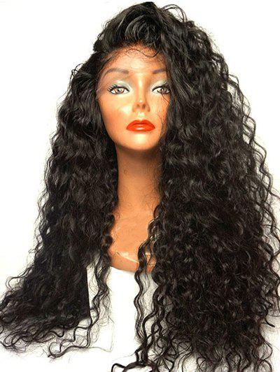 Online Long Side Parting Curly Synthetic Lace Front Wig