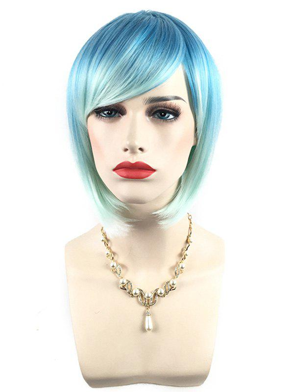 Sale Short Side Bang Colorful Straight Bob Synthetic Wig