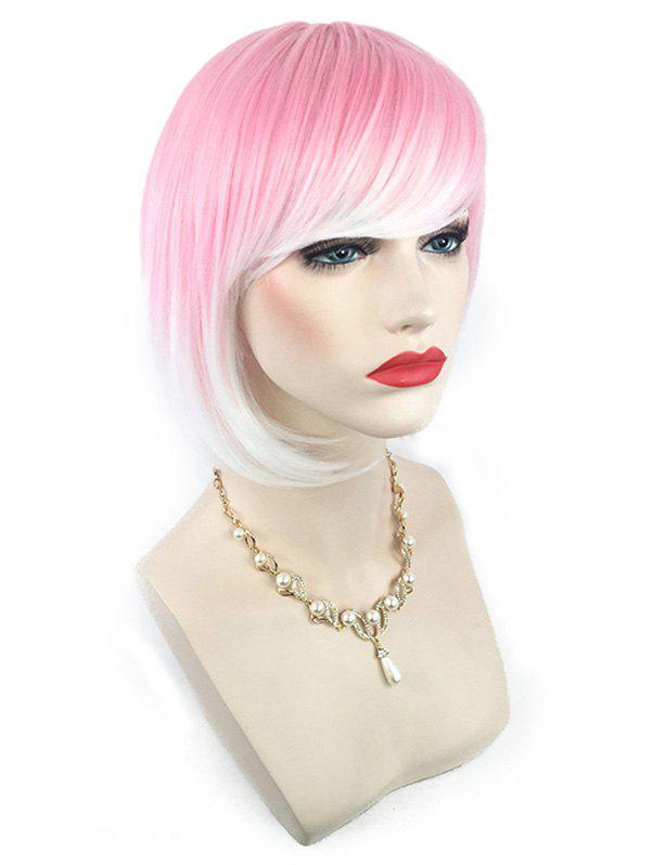 Affordable Short Side Bang Colorful Straight Bob Synthetic Wig