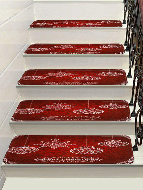 Store Merry Christmas Printed Decorative Stair Floor Rugs