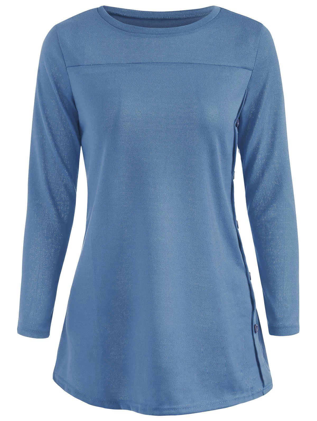 Affordable Full Sleeve T-shirt with Buttons