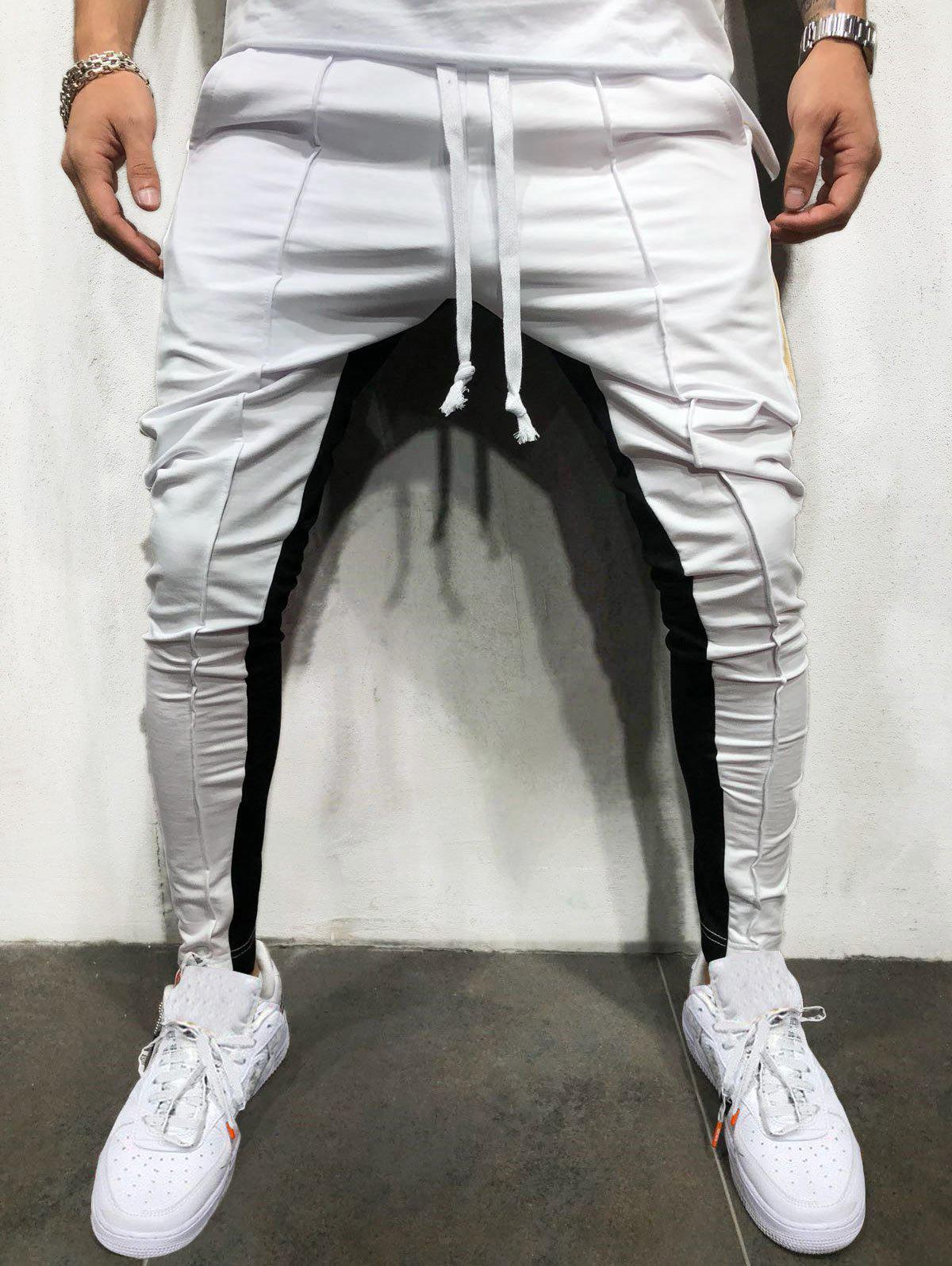 Fashion Color Block Stripe Jogger Pants