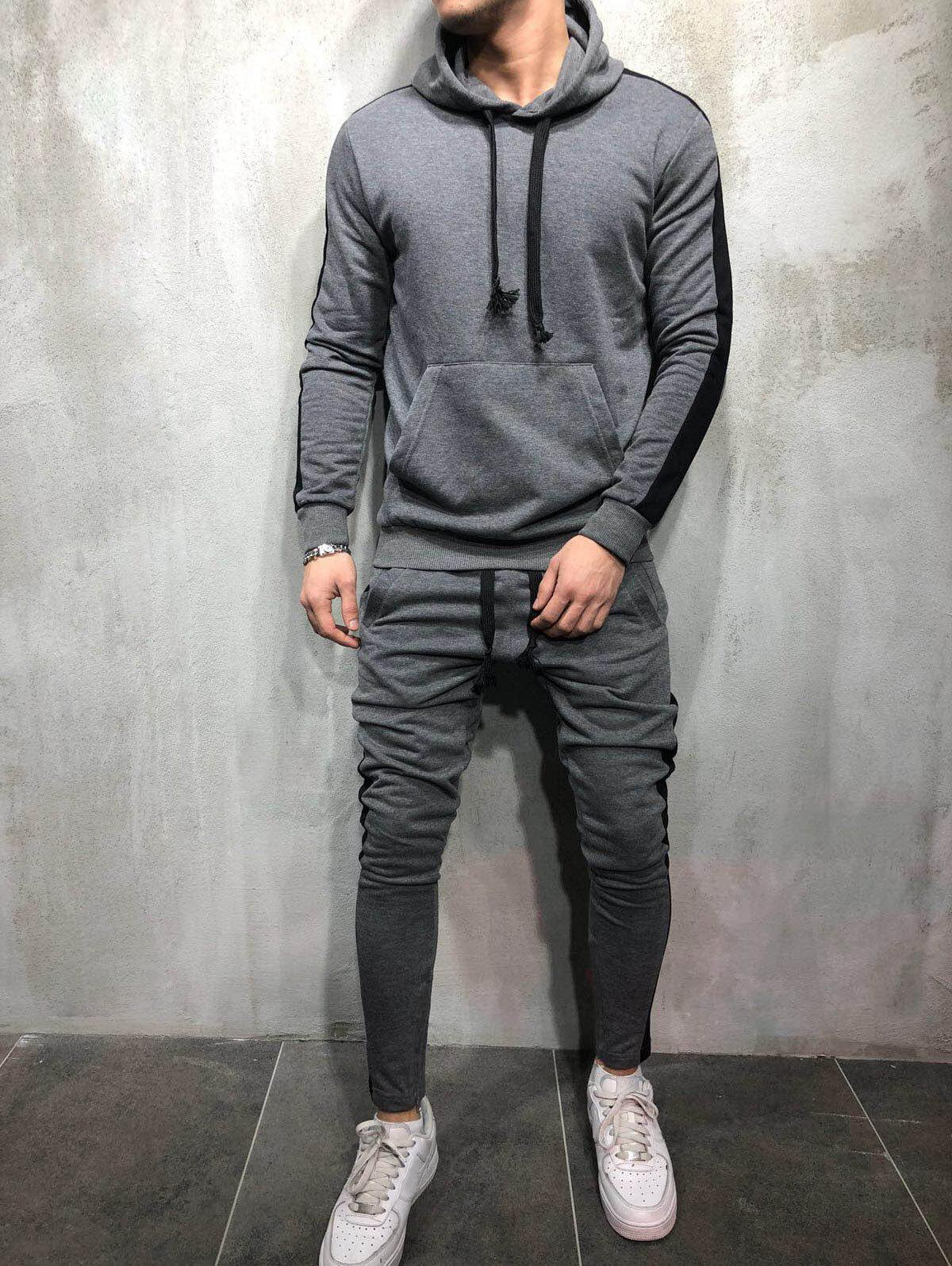 Best Side Stripe Hoodie Activewear Suit