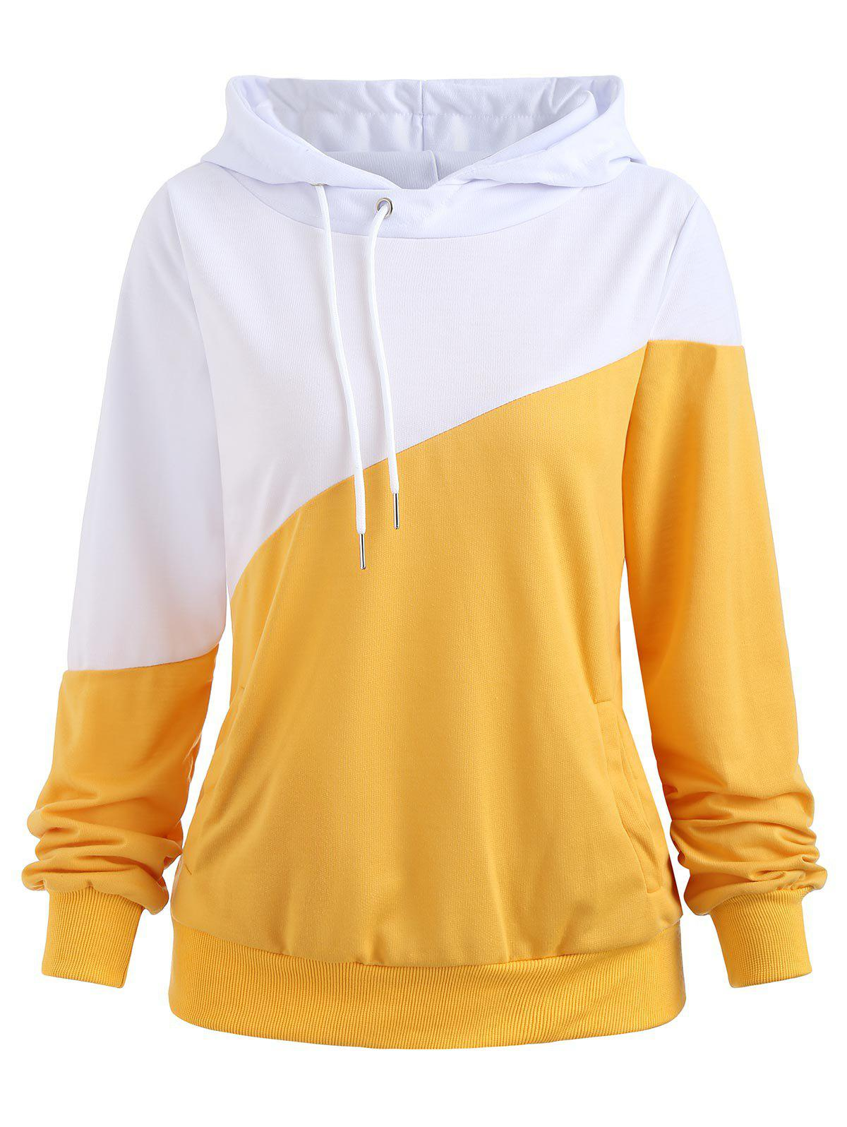 Buy Color Block Hoodie with Pockets
