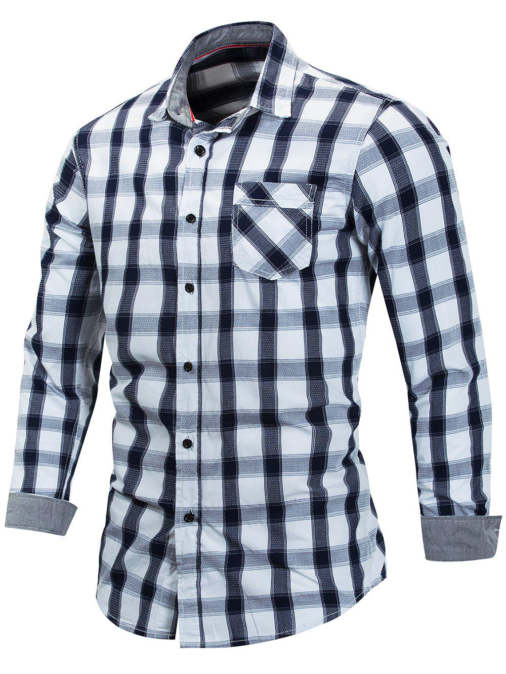 Outfit Casual Check Print Button Up Shirt