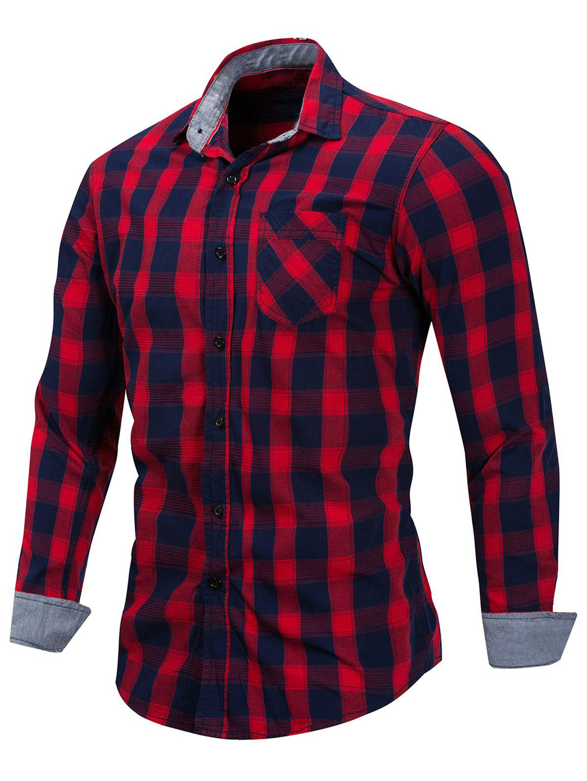 Hot Casual Checked Print Button Up Shirt