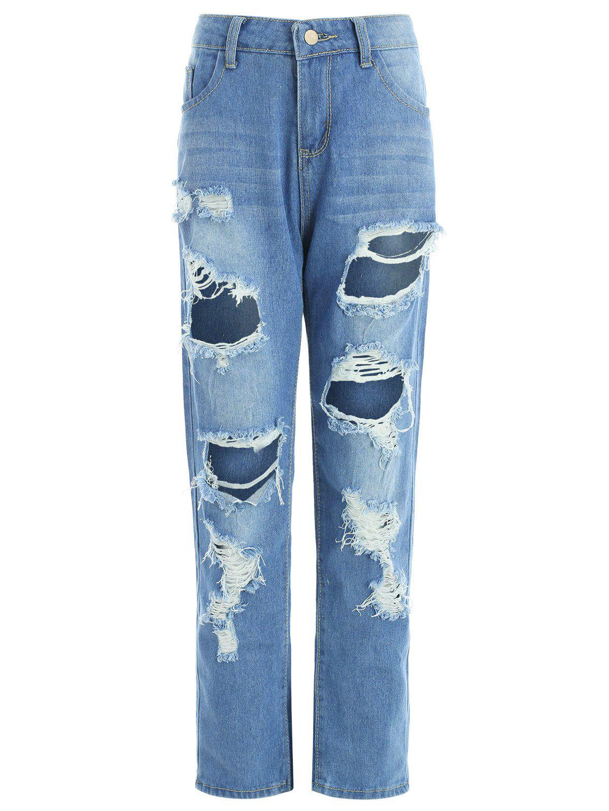 Sale Ninth Ripped Jeans