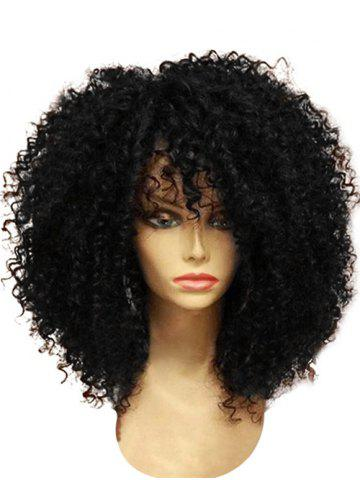 Medium Full Bang Fluffy Afro Curly Synthetic Wig 4d5423bf5c