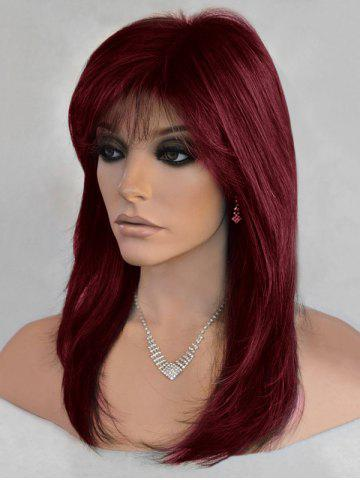 Long Side Bang Colormix Straight Synthetic Wig 401182a4c524