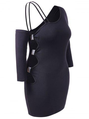 Plus Size One Shoulder Cut Out Bodycon Dress