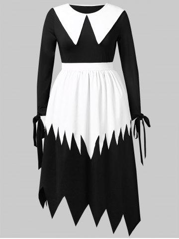 Plus Size Halloween Witch Cosplay Maxi Dress