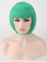 Short Full Bang Straight Bob Party Synthetic Wig -