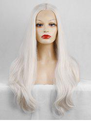 Middle Part Long Straight Party Lace Front Synthetic Wig -