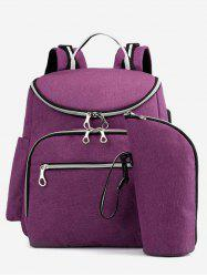 USB Interface Multi Function 2 Pieces Nappy Bag -
