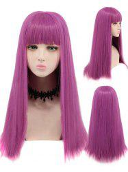 Long Neat Bang Straight Cosplay Party Synthetic Wig -