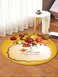 Christmas Bell Pattern Decorative Round Floor Rug -