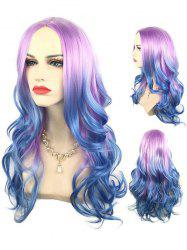 Long Middle Part Colorful Wavy Cosplay Synthetic Wig -