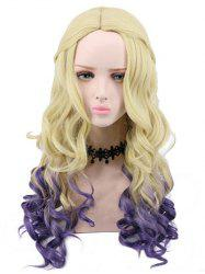 Long Side Parting Ombre Wavy Lolita Party Synthetic Wig -