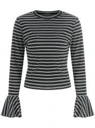 Bell Sleeve Striped T-shirt -
