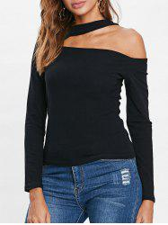Long Sleeve Cut Out T-shirt -