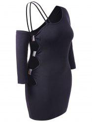Plus Size One Shoulder Cut Out Bodycon Dress -