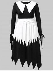 Plus Size Halloween Witch Cosplay Maxi Dress -