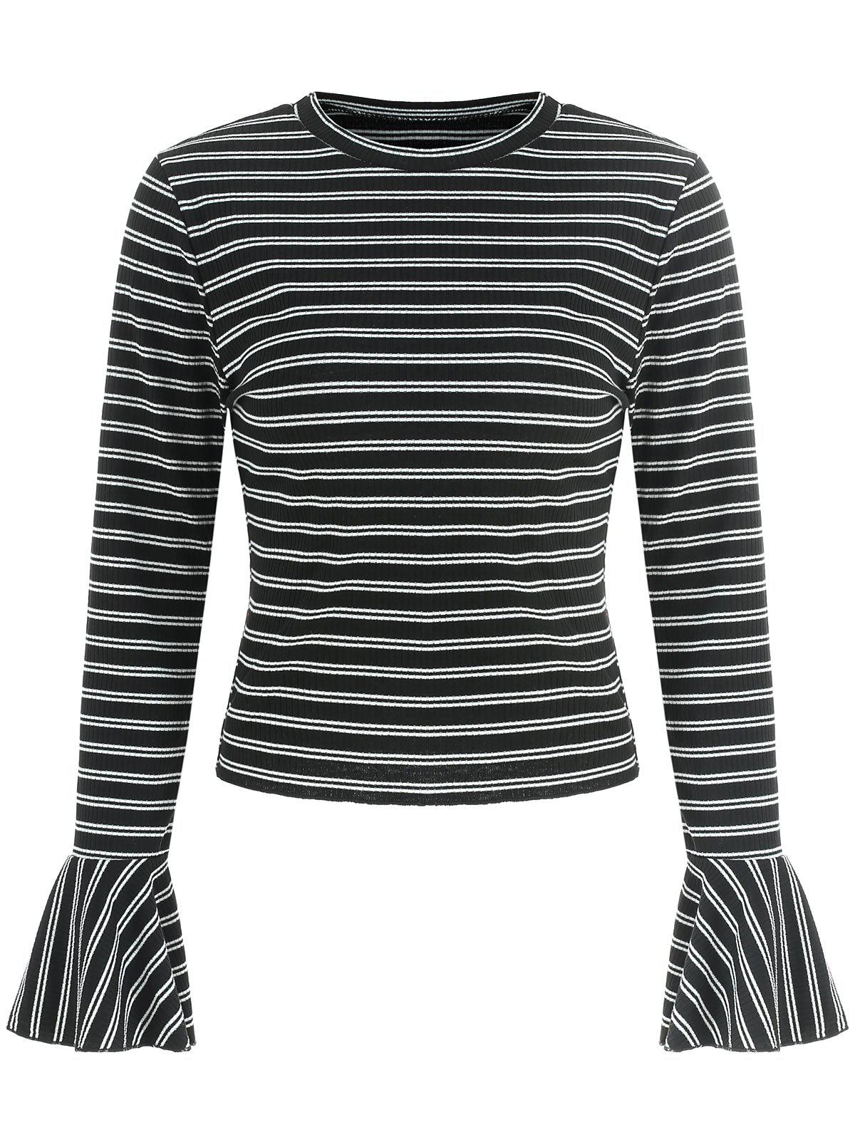 Best Bell Sleeve Striped T-shirt