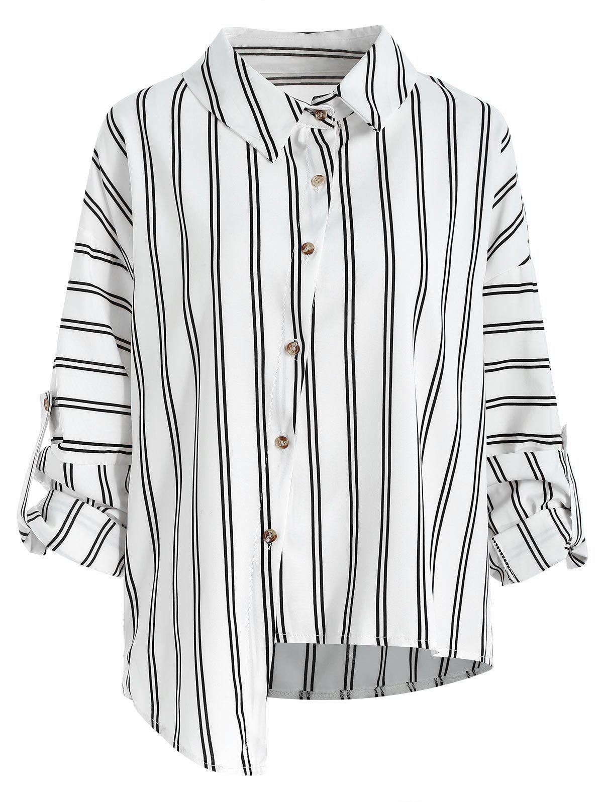 Online Button Up Stripe Shirt
