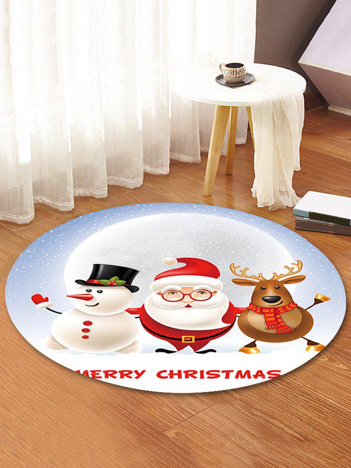 Chic Christmas Partner Pattern Anti-skid Round Floor Rug