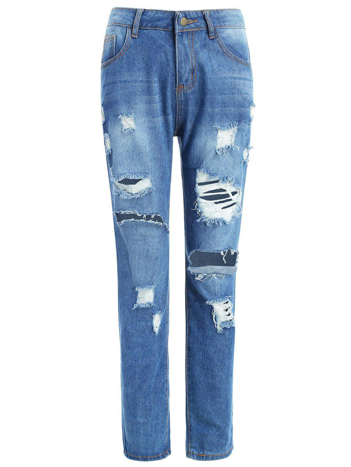 Latest Mid Waist Ripped Jeans