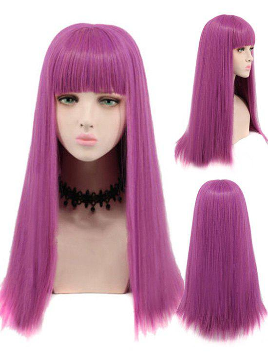 Outfit Long Neat Bang Straight Cosplay Party Synthetic Wig