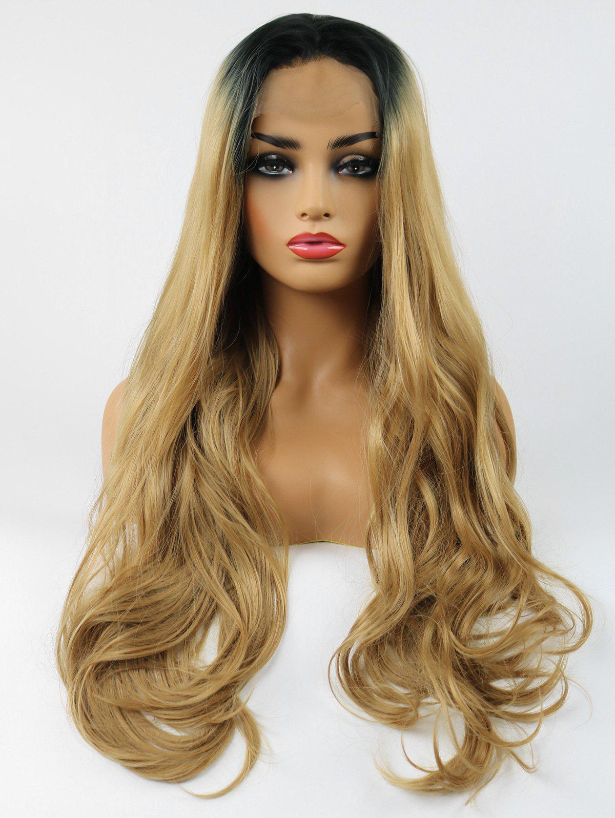 Shops Long Free Part Colormix Wavy Synthetic Lace Front Wig