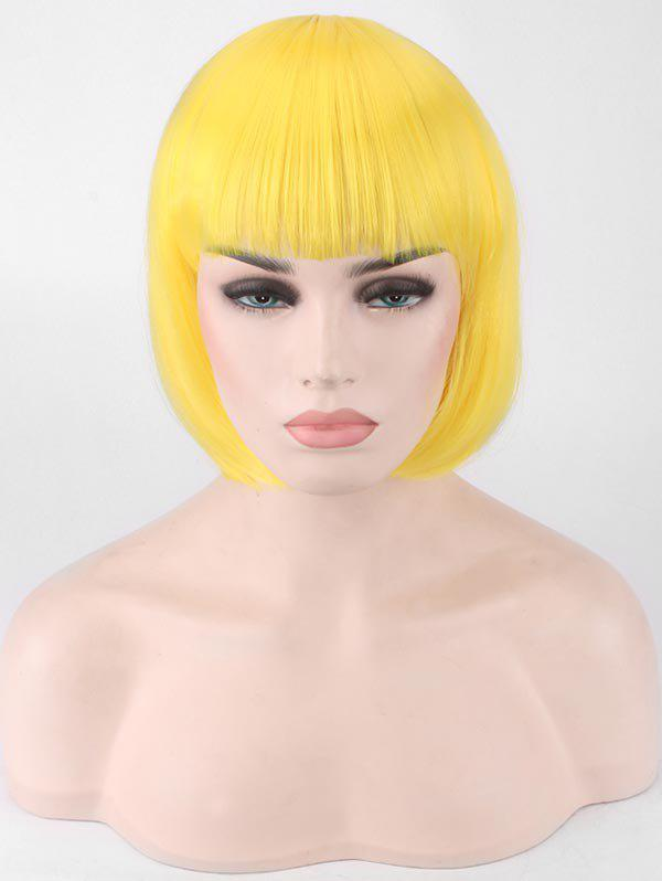Best Short Full Bang Straight Bob Party Synthetic Wig