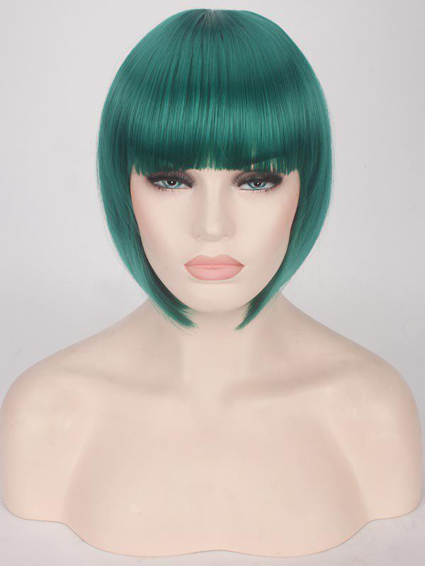 Sale Short Full Bang Straight Bob Party Synthetic Wig