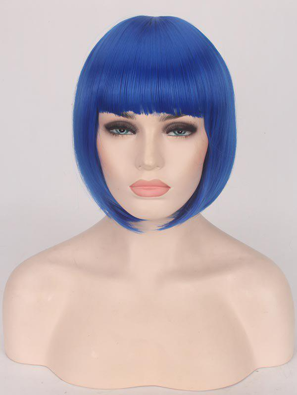 Unique Short Full Bang Straight Bob Party Synthetic Wig