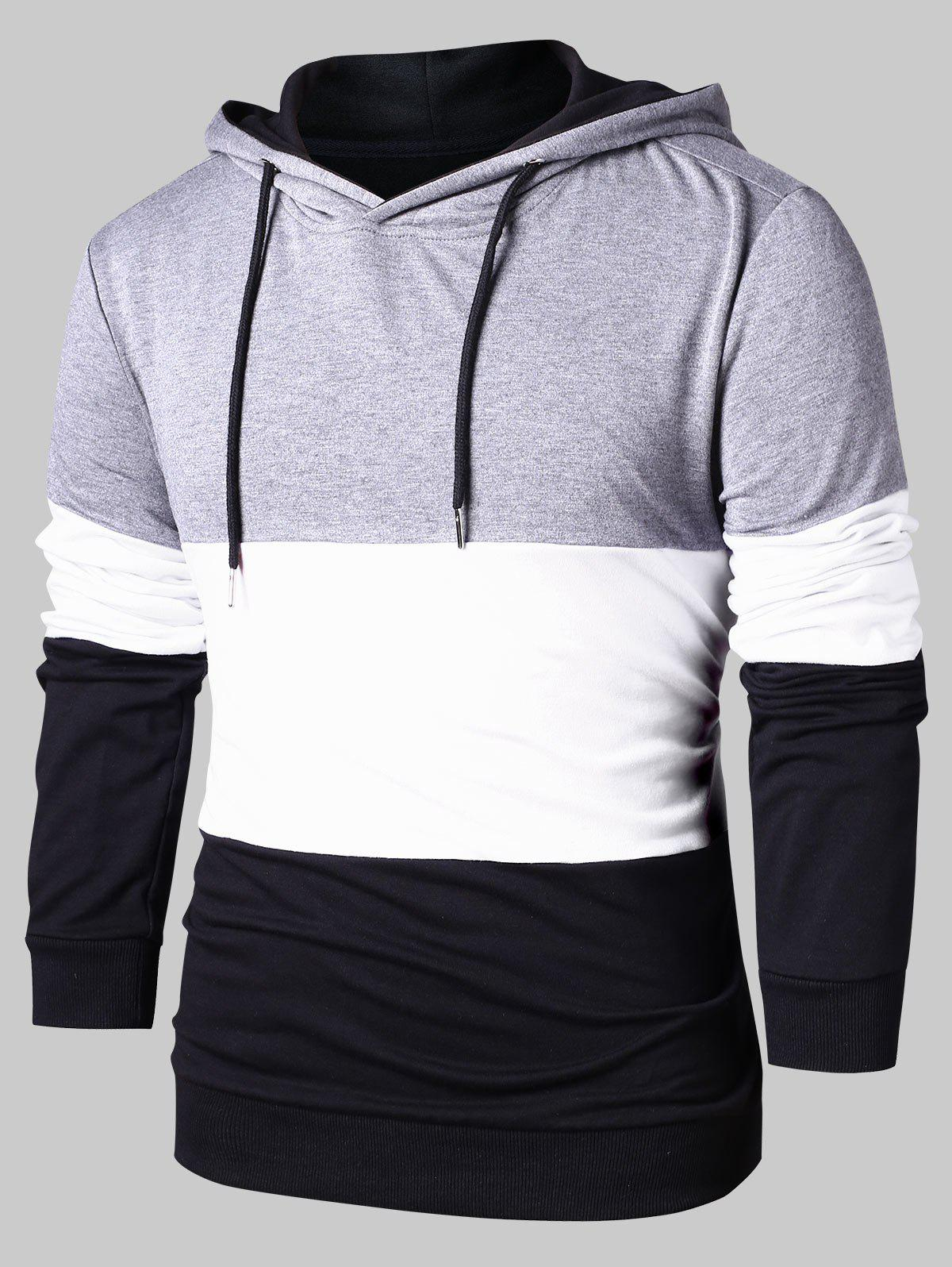 New Color Block Pullover Hoodie