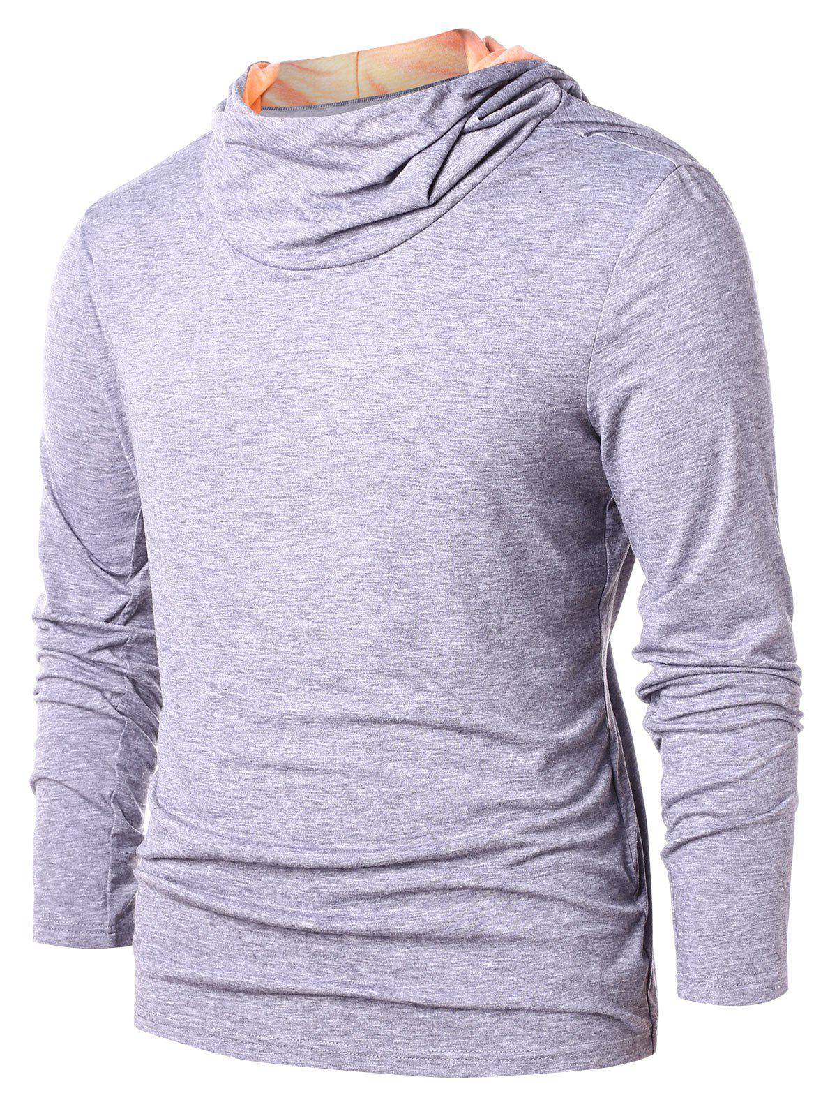 Cheap Color Block Pullover Hoodie