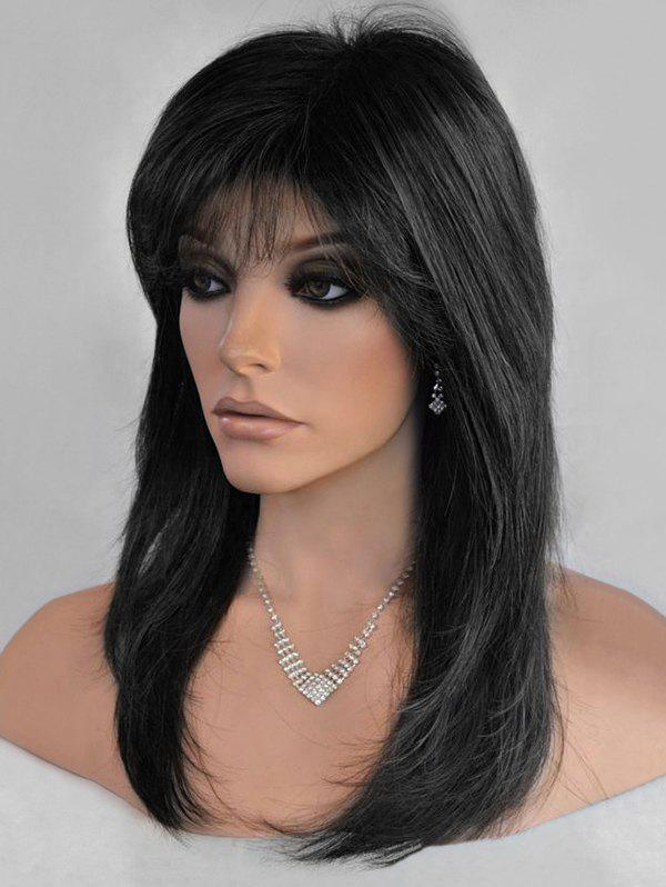 Outfits Long Side Bang Colormix Straight Synthetic Wig