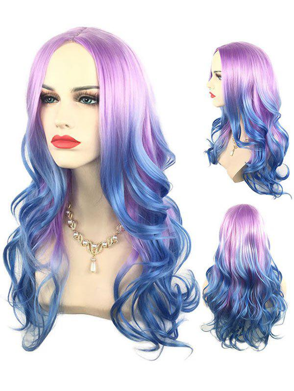 Outfit Long Middle Part Colorful Wavy Cosplay Synthetic Wig