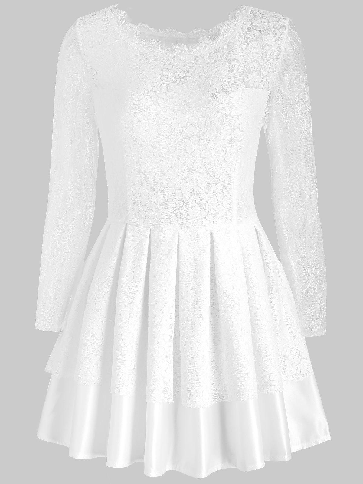Unique Mini Cut Out Lace Dress