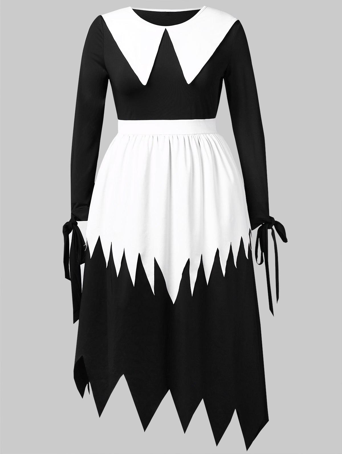 Cheap Plus Size Halloween Witch Cosplay Maxi Dress