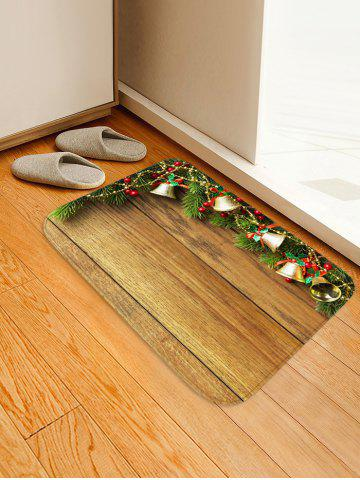 Christmas Jingle Bell and Board Print Waterproof Floor Mat
