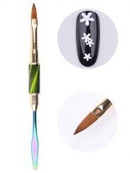 Beauty Nail Art Tool Double-ended Liner Brush Spatula -